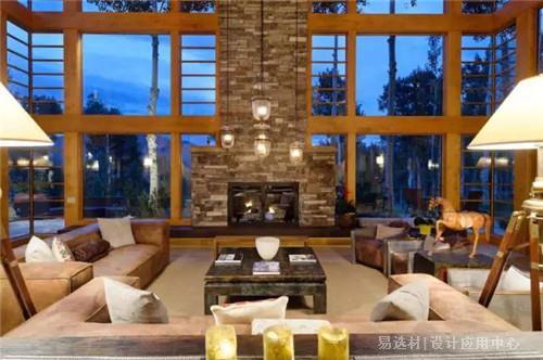 木材和玻璃搭配自然和谐