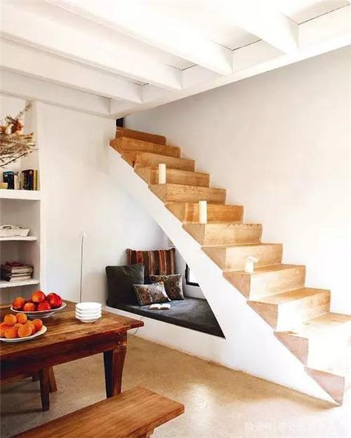 楼梯下面的空间设计图-易选材 资讯 楼梯下面的空间