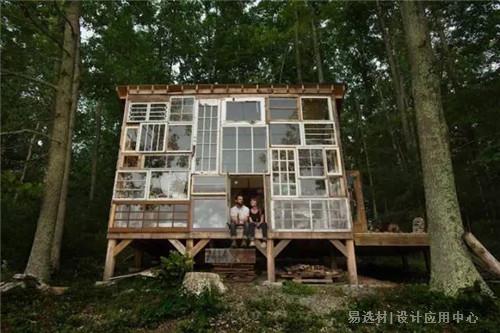 易选材--资讯-废旧门窗做成家居艺术品