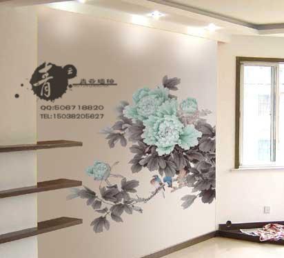 郑州墙绘郑州手绘墙之富贵