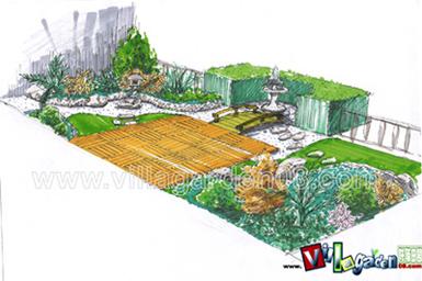 日式庭院平面图手绘
