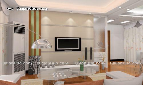 客厅电视背景墙图片-大庆德高装饰的设计师家园