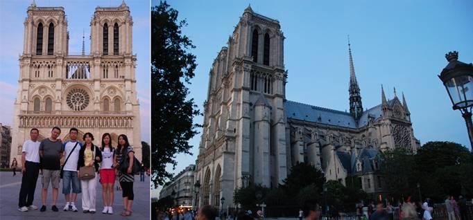 """巴黎圣母院(Notre Dame de Paris)始建1163年,前后历时四百年才完工,是哥德式教堂的代表,精雕细凿,颇有鬼斧神工之能,尤其是正门三个大拱门上的浮雕,共有千余人物,非常细致。巴黎圣母院内部装璜,严谨肃穆,但以彩色玻璃窗的设计最吸引人,其中有长有圆有长方,但以其中一个圆形为最,它的直径有九公尺,俗称「玫瑰玻璃窗」 [[img style=""""BORDER-LEFT-COLOR: #000000; FILTE"""