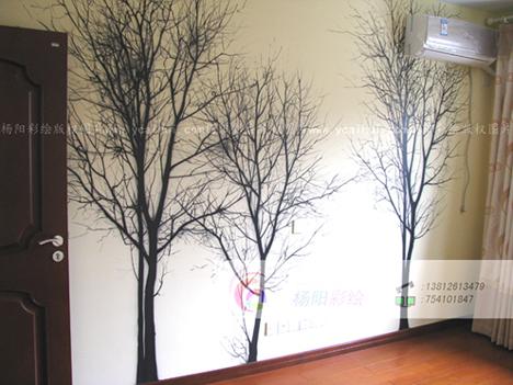 卧室个性手绘墙