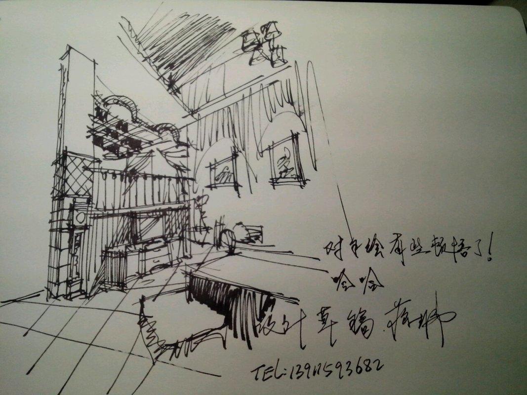 我的手绘设计稿,请同-北京蒋生伟室内设计有限公司的
