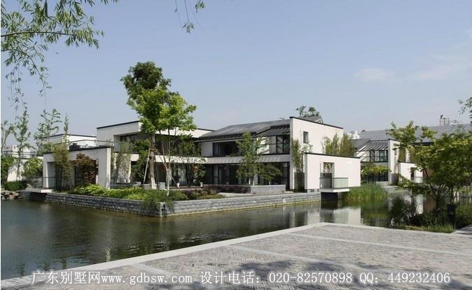 中式古典别墅建筑设计效果图四