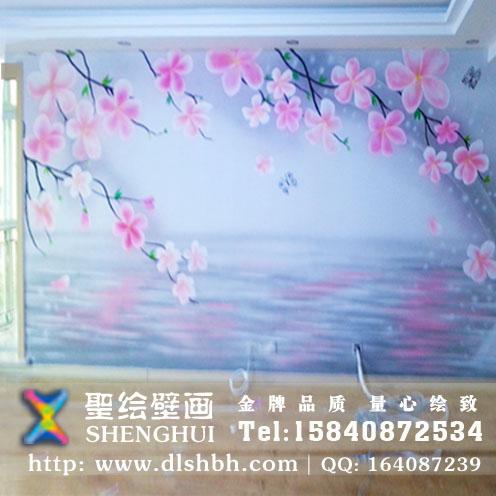 大气,手绘墙画是您装修墙面的首选之