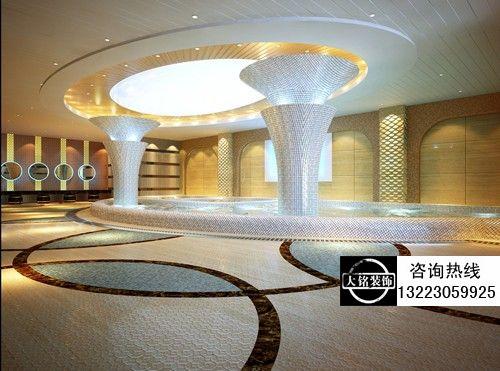 洗浴中心设计浴区的木桶浴:有些洗浴