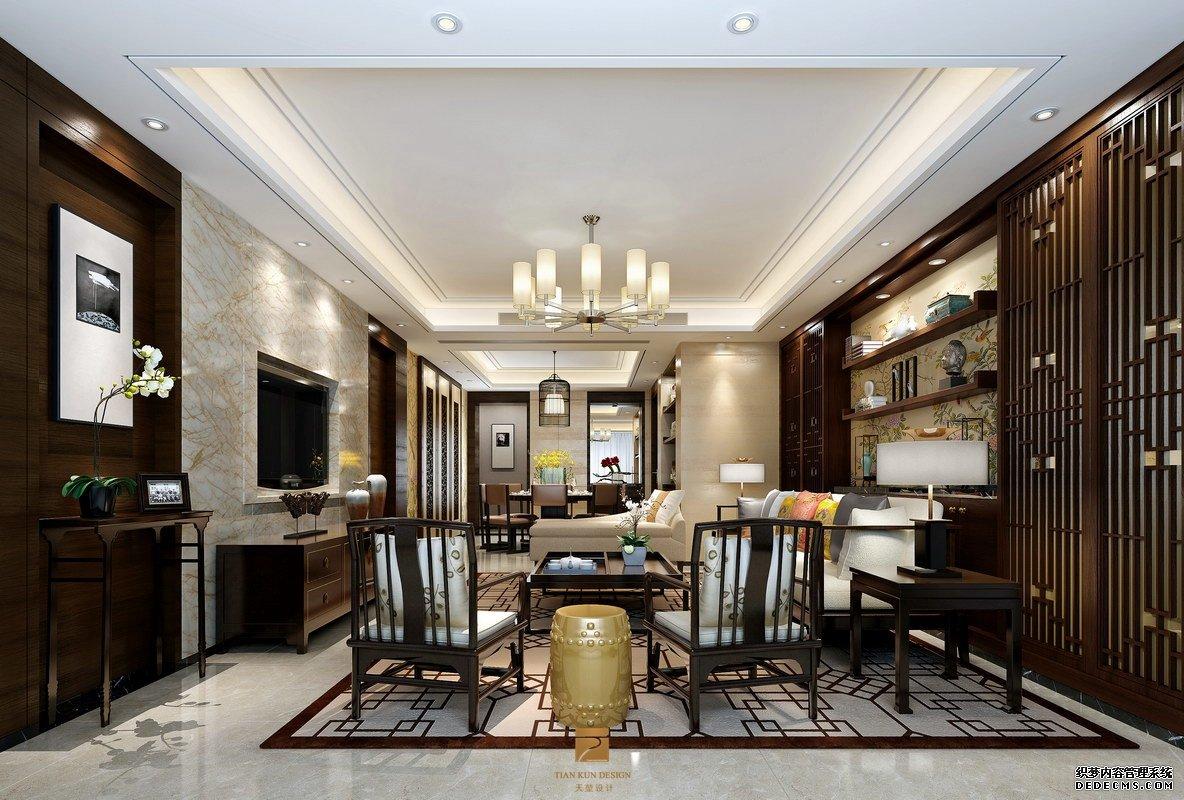 几套新中式风格别墅设-广州天堃装饰设计有限公司的