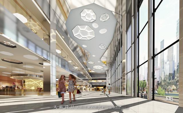 购物中心设计效果图:购物中心中庭设计效果图一
