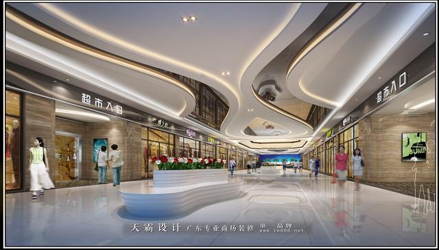 商场装修图片:室内二楼设计效果图 商场装修图片:室内一楼设计效果图