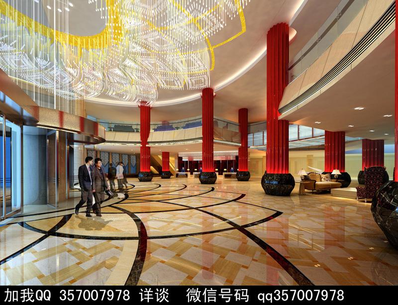 酒店大堂设计案例效果图高清图片