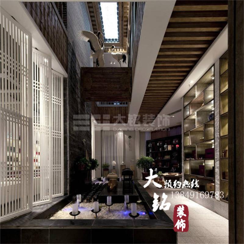 现代中式茶楼装修设计效果图