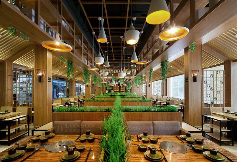 锦园四季椰子鸡餐厅设计|体验天然椰树风情