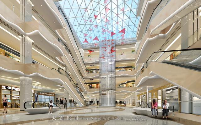 精美商场装修设计效果图,可供黔南商场装修客户参考