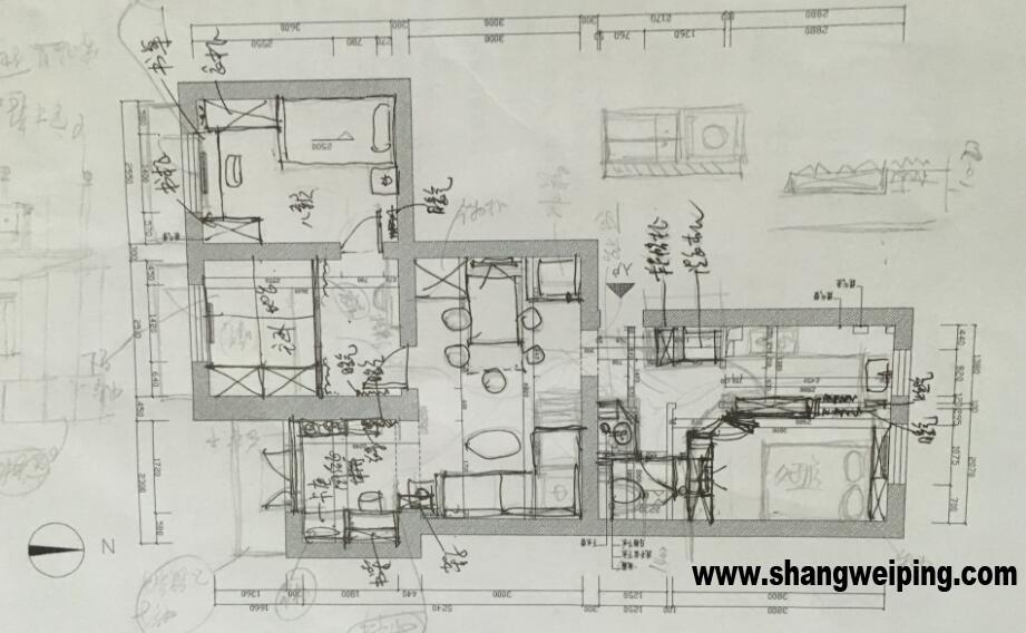 650){this.height=this.height*650/this.width;this.width=650}> 定下来,卫生间干湿分离 马桶挪位置,和淋浴放在一起 洗手盆放在外面 现在就是客户所在的楼房过两年要管道改造,这是一个事情 下面是客户修改意见