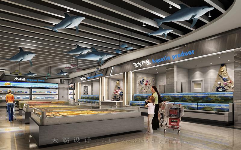超市装修设计效果图|郑州超市装修客户可参考的专业作品案例