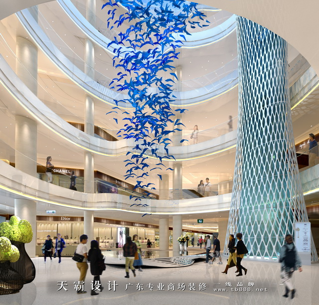 原创商场装修设计效果图,来自天霸设计