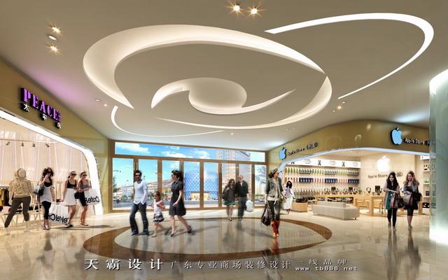 漳州超市装修设计客户可参考的商场装修效果图