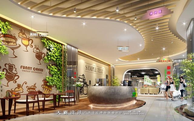 莆田超市装修设计精品-广东东莞市天霸设计装饰工程的