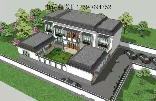 农村四合院设计效果图-别墅图纸超市的设计师家园