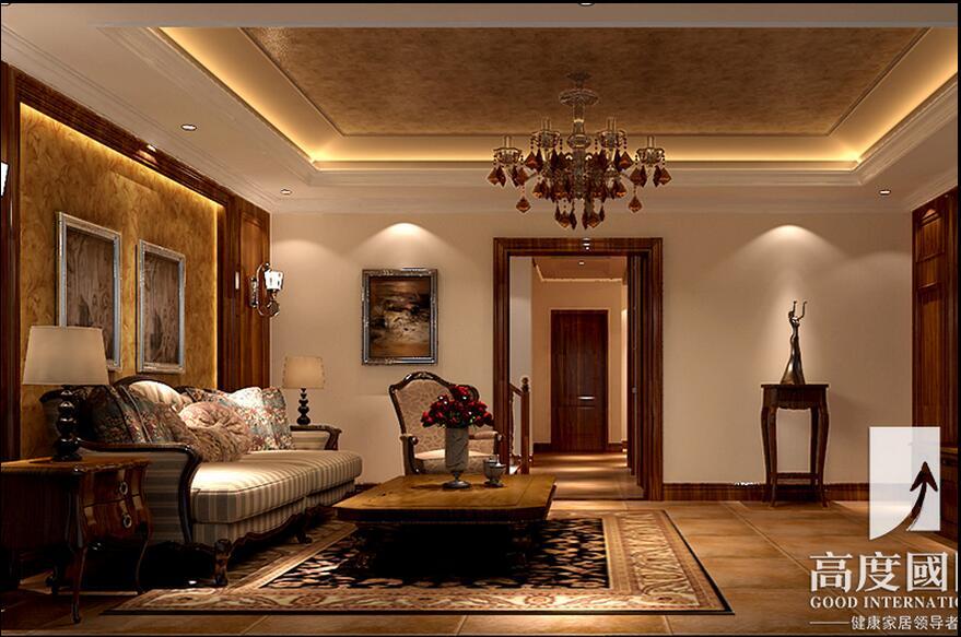 欧式新古典主义风格家具在反射式灯光照明(即装饰