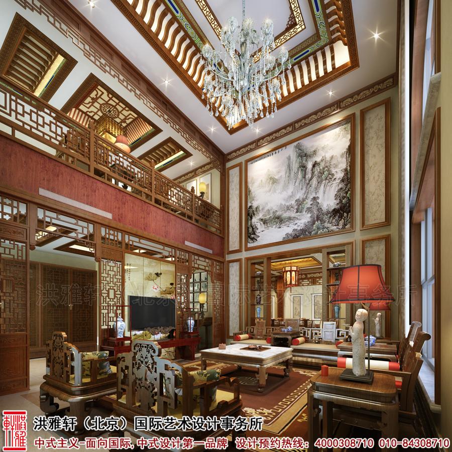 新中式木格栅背景墙