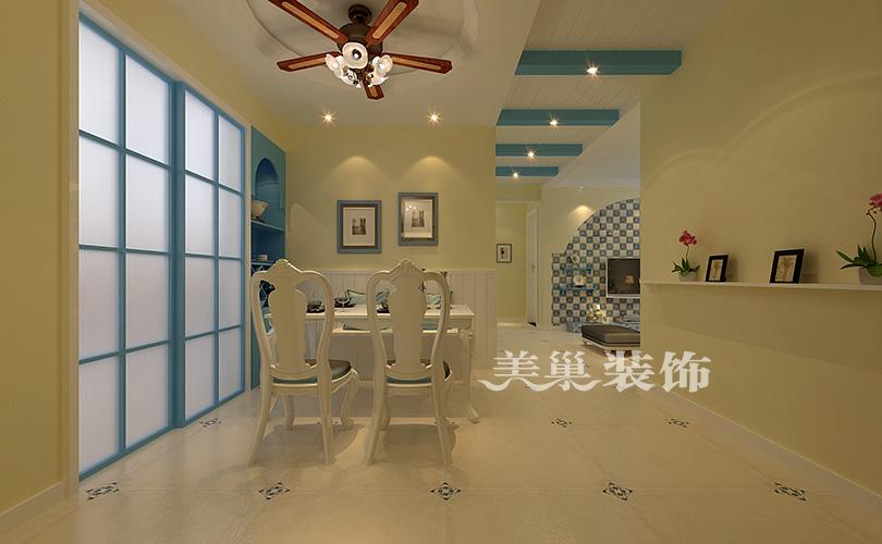 锦艺金水湾3室2厅装修地中海案例风格,客布局v案例餐厅36平小户型装修复式