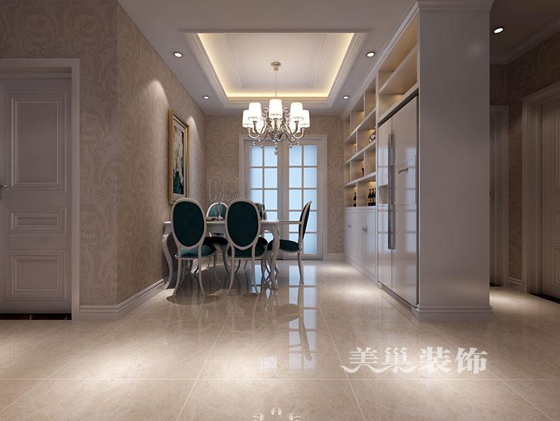 七里香堤3室2厅装修欧式风设计案例,客厅沙发布局
