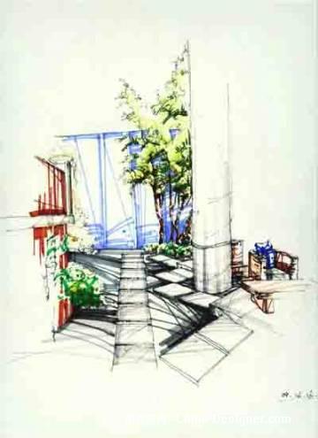 手绘效果图-孔令峰的设计师家园-商场