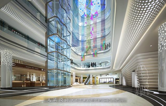 商场设计效果图:商场中庭设 计效果图