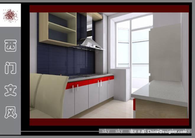 哈尔滨某小结64平米-侯斌的设计师小区:水云间广告设计v小结家园结尾图片