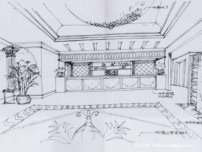 手绘工装-王梁斌的设计师家园-住宅公寓