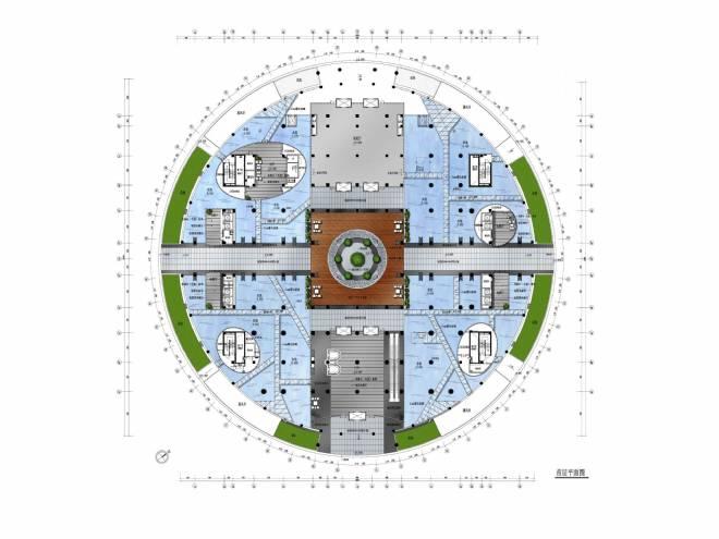 中庭景观手绘平面图