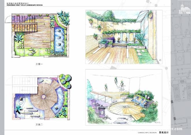 上海虹桥高尔夫别墅庭院景观-mate的设计师家园-1-5万,别墅,现代