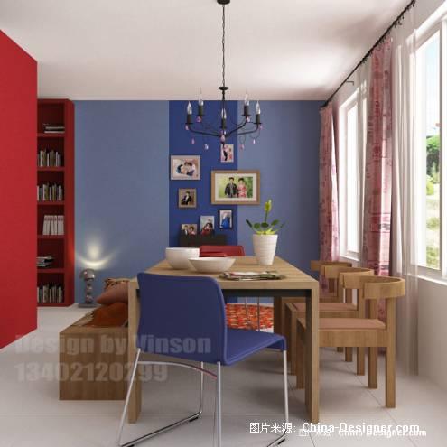 半开放式书房效果图-瑞丽家居 2008年1月号高清图片