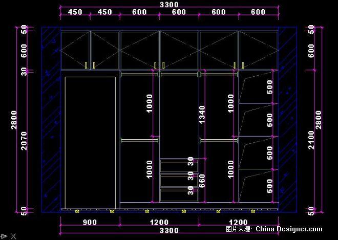 主卧大衣柜内部结构图