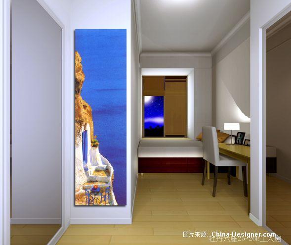 欧式装修深蓝色背景墙欧式
