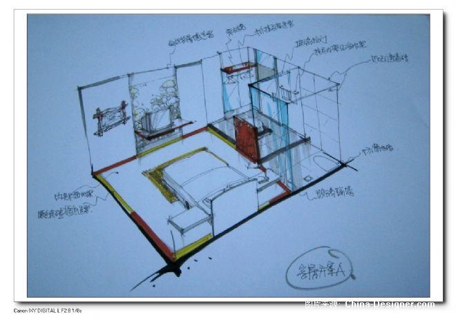 客房设计手绘图