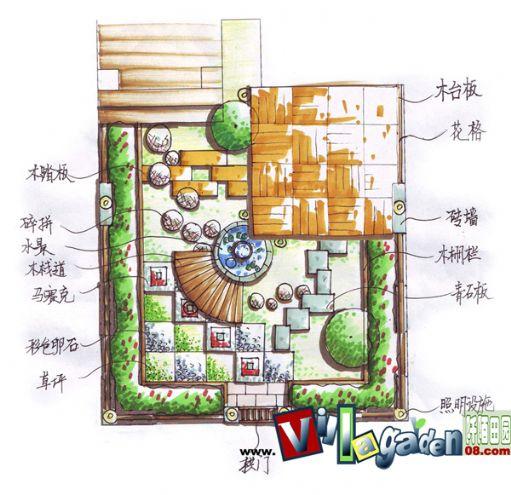 欧式景观庭院设计平面图