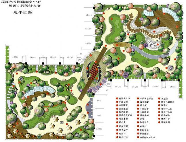 1屋顶花园设计方案总平面图