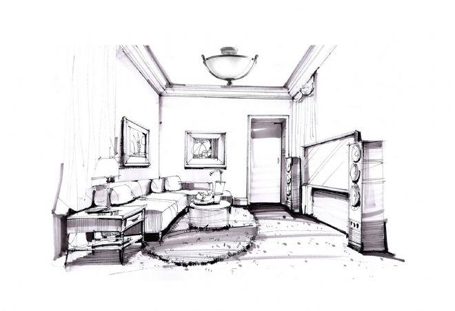 娱乐空间设计手绘