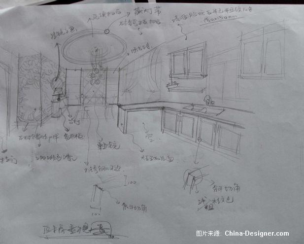 时代广场样板间厨餐厅草图图片
