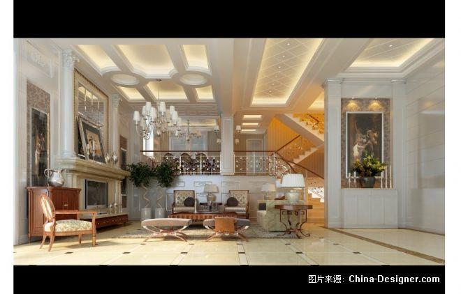 别墅会客厅效果图
