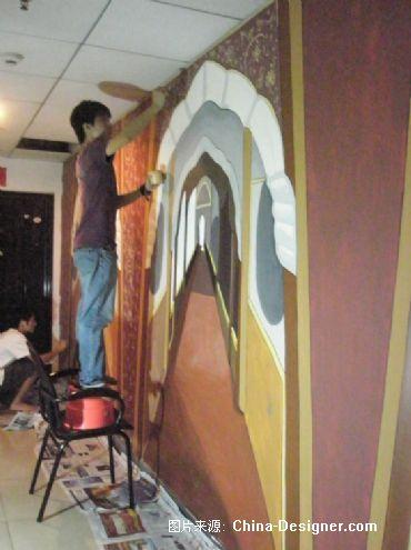 瑜伽原墙体彩绘-天韵墙绘的设计师家园-长沙墙体彩绘,长沙手绘墙,长沙