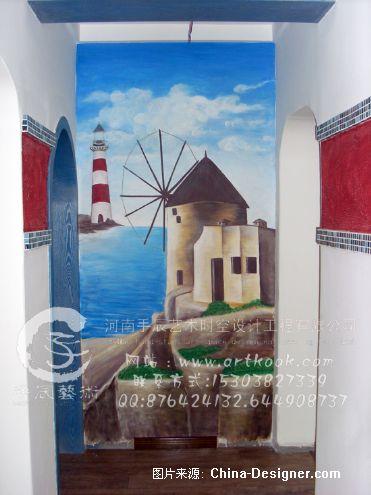 郑州墙体彩绘-田园风景-手辰(郭振中)的设计师家园-墙体彩绘 手绘墙
