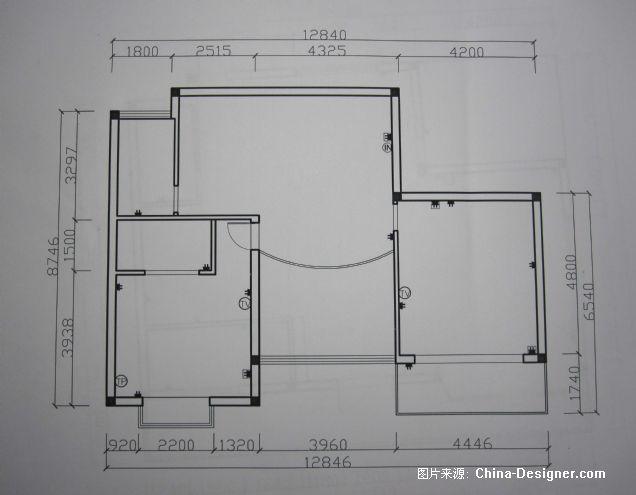 客厅插座电路布置图