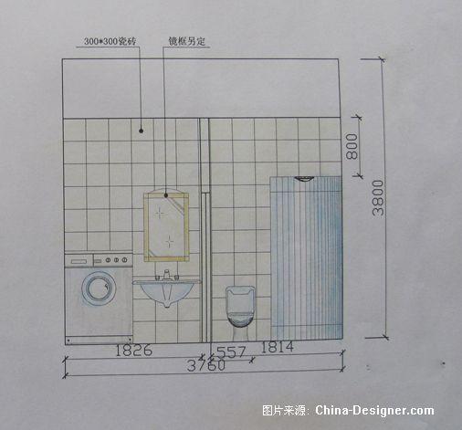 一层卫生间立面图