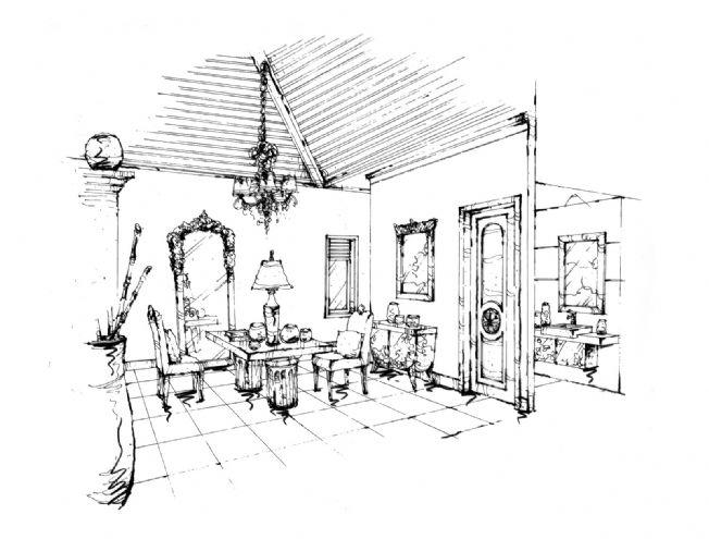 成都南天府創意公園8#樓a戶型設計手繪效果圖-任清泉的設計師家園