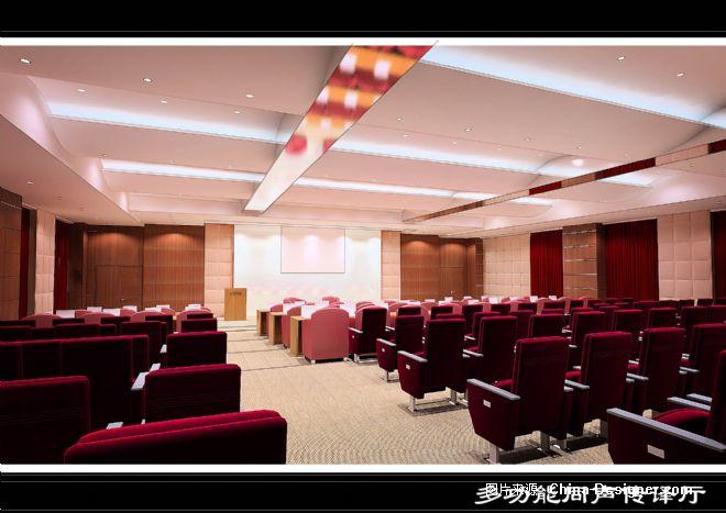 多功能会议厅室内装修工程-阿炳的设计师家园-办公室,现代